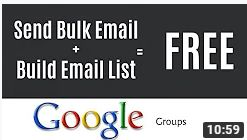 How to Build an Email List for Free | Google Groups [2019 tutorial]